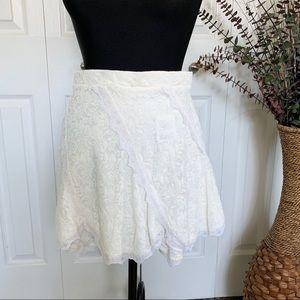 UO Kimchi Blue | Lace Panel Pixie Mini Skirt